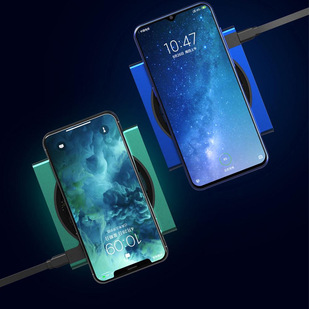 Đế Sạc Nhanh Không Dây 10w Qi Tích Hợp Đèn Led Cho Mi10 Iphone