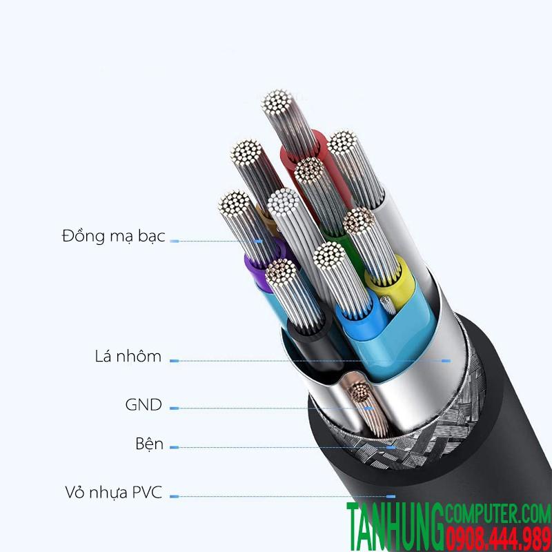 Cáp USB Type C sang Micro ubs 3.0 5Gbps dài 1m UGREEN 20103 màu đen