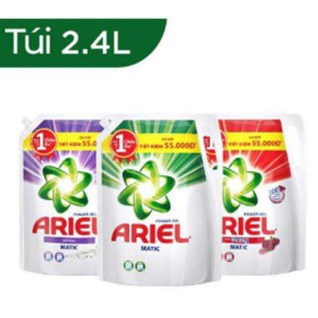 Nước Giặt Ariel Dạng Túi ( 2.4Kg và 2.15kg )