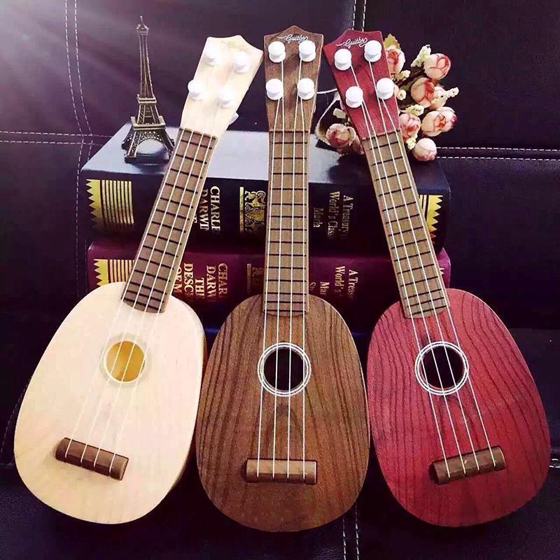 ☆4 String Wood Pattern Guitar Ukulele Musical Instrument Kids Christmas Gift