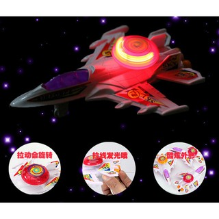Kids Light Music Pull Emitting Aircraft Airbus Go Toys