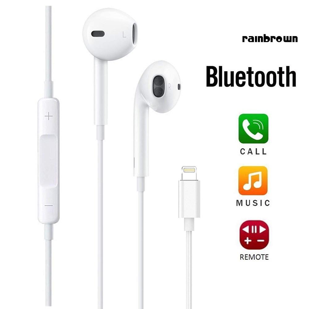 Tai Nghe Bluetooth Rej / 8pin Có Mic Cho Iphone 7 / 8 / X - Tai nghe  Bluetooth chụp tai On-ear