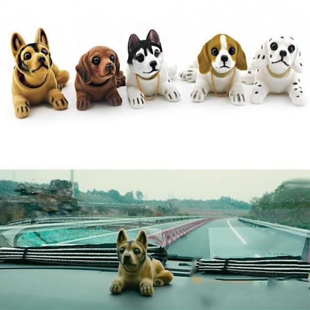 Chó gật gù trang trí xe ô tô giao mẫu ngẫu nhiên, có sỉ từ 10c