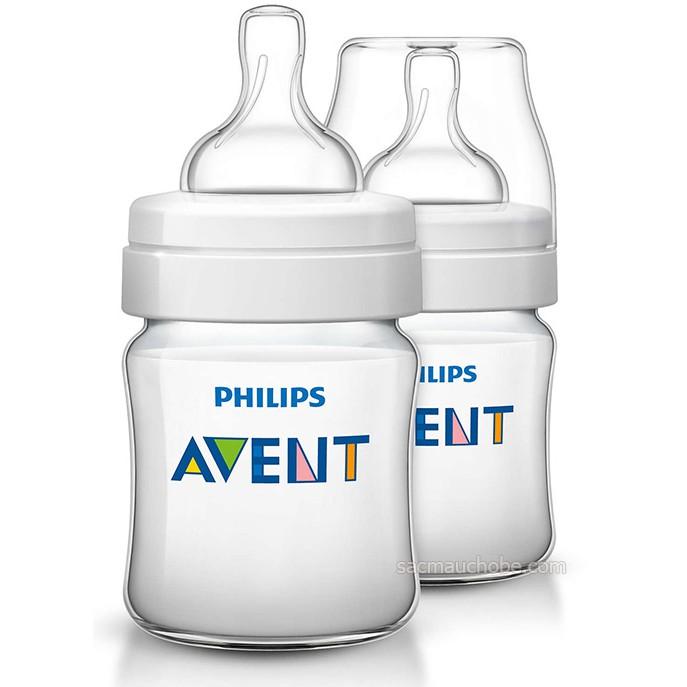 Hộp 2 bình sữa AVENT thường 125ml