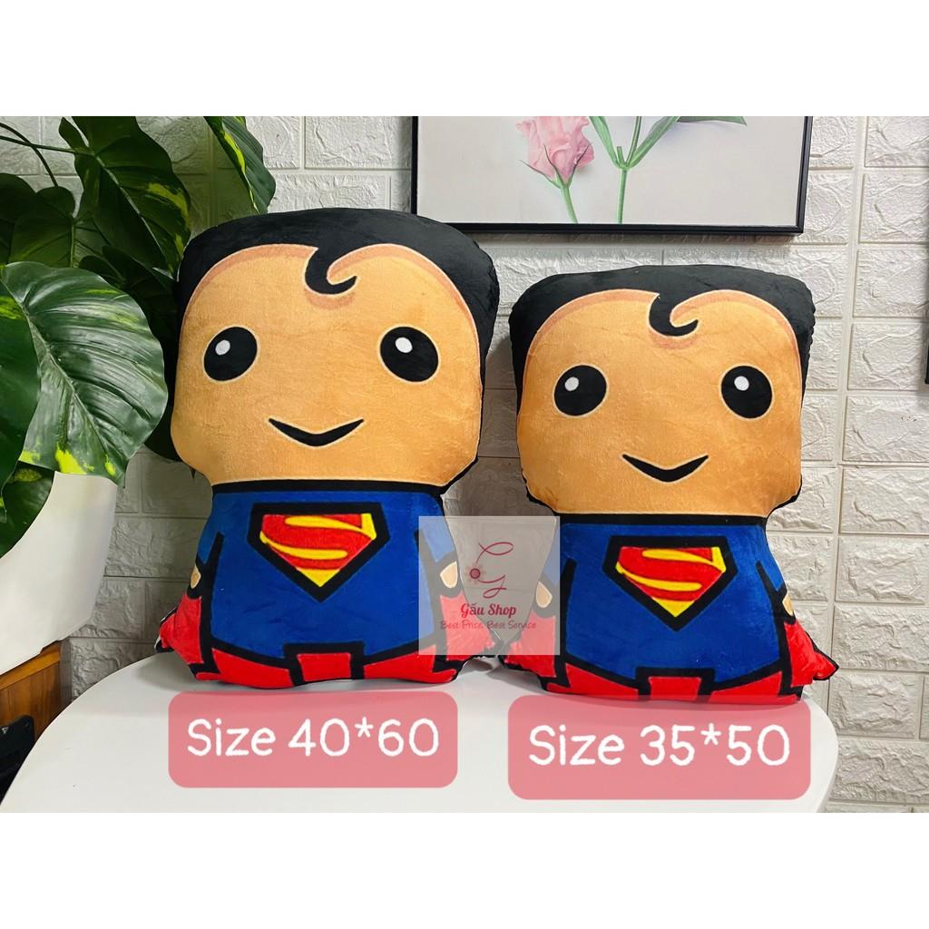[Gối Handmade] Gối in Superman, nhồi bông cao cấp