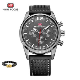 [Tặng vòng tay] Đồng hồ nam Mini Focus MF0005G.03 chính hãng dây da cao cấp thumbnail