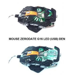 Mouse ZERODATE G16 LED (USB) đen thumbnail