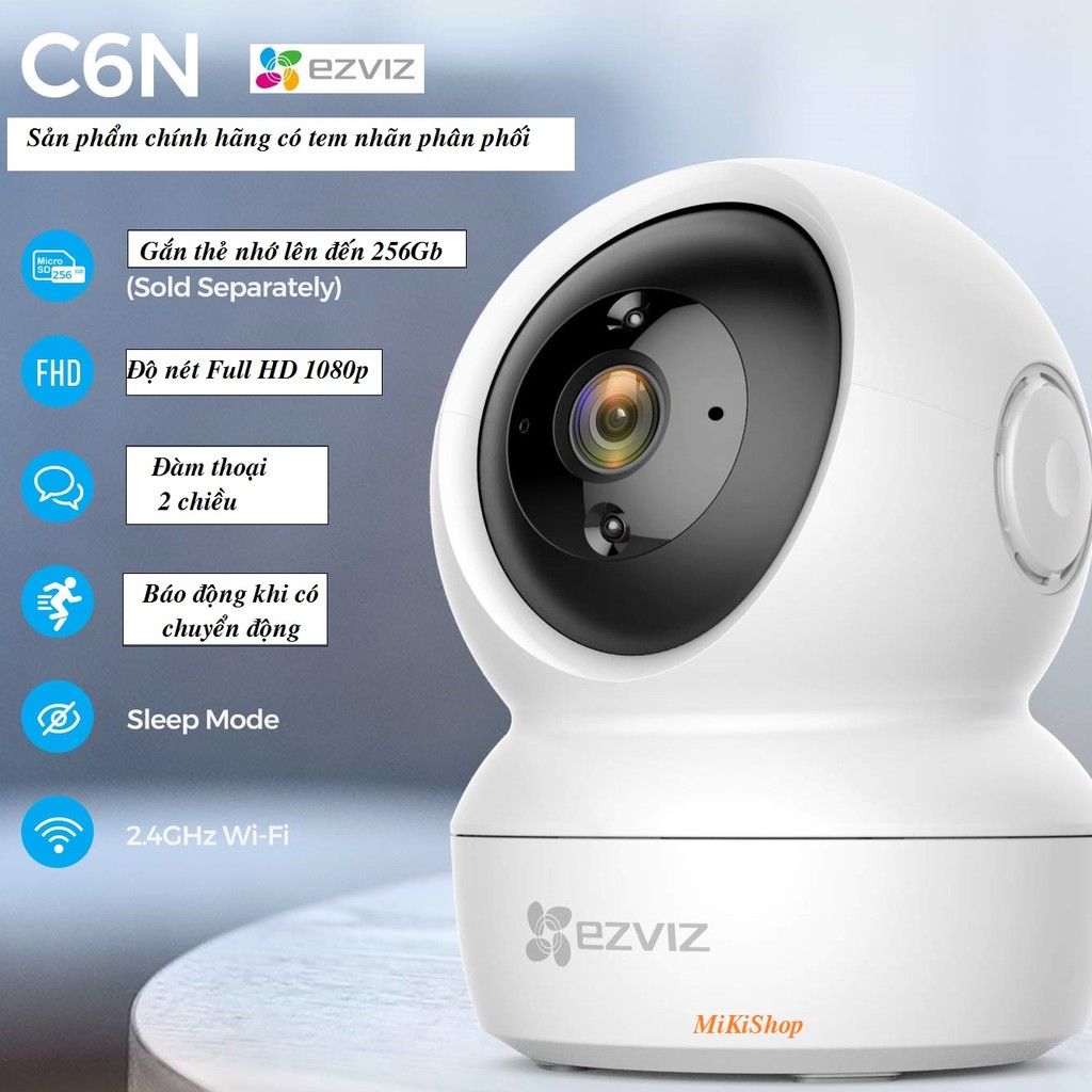 Camera quan sát đàm thoại 2 chiều EZVIZ - độ nét Full HD 1080p