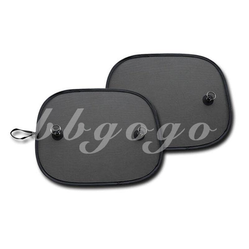 2 Pcs Black Car Sun Shades Sunshades Cover Shield Screen UV Protection