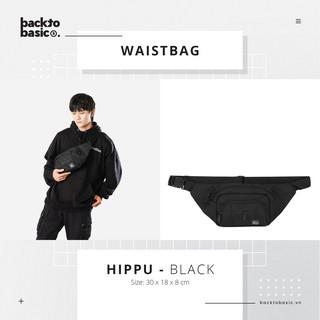 Túi bao tử – Túi đeo hông Hippu II – màu trơn, 11 ngăn