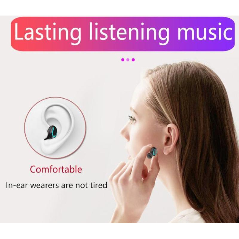 Tai nghe Bluetooth Q32 5.0 Tai nghe thể thao không dây hai tai nghe HBQ Tai nghe Bluetooth sạc dự phòng TWS [EJ100004]