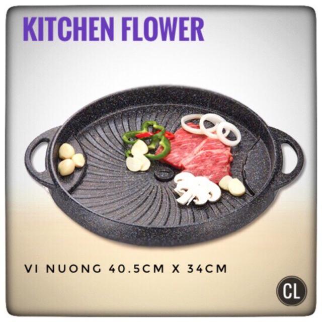 Vỉ nướng trên bếp Kitchen Flower 1160 - Hàng nhập khẩu