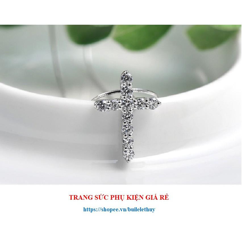 Vòng cổ mặt hình thánh giá nhỏ xinh, xi bạc ý 925, sale giá rẻ
