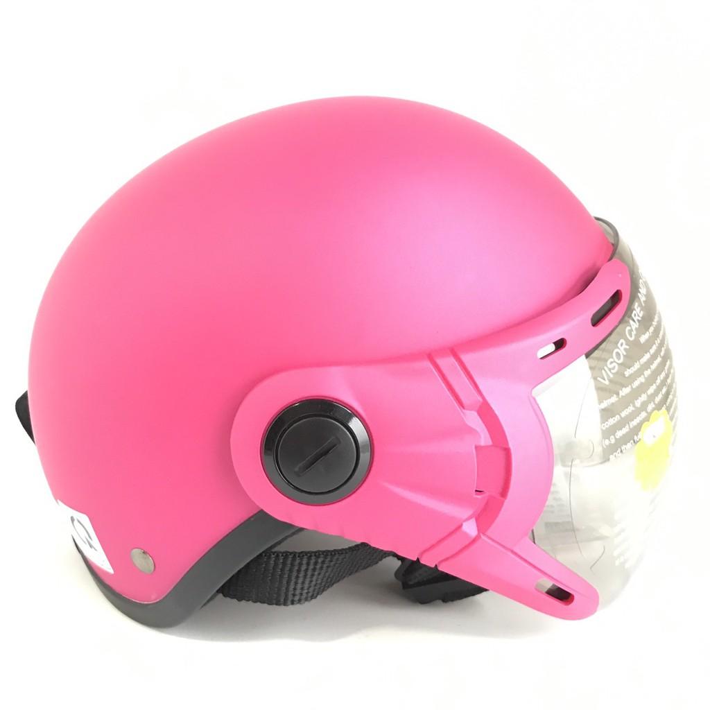 Mũ bảo hiểm nửa đầu có kính - Dành cho người lớn vòng đầu 56-58cm - GRS A33K - Đào nhám - Nón bảo hiểm Nam - Bảo hiểm Nữ