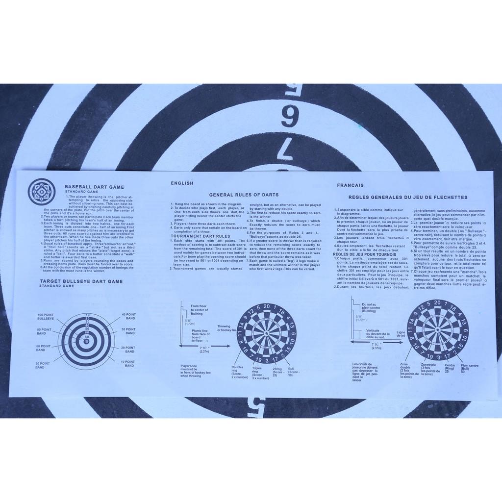 Bảng Phi Tiêu 2 Mặt 17 inch (42cm) TẶNG KÈM 6 Phi Tiêu Màu