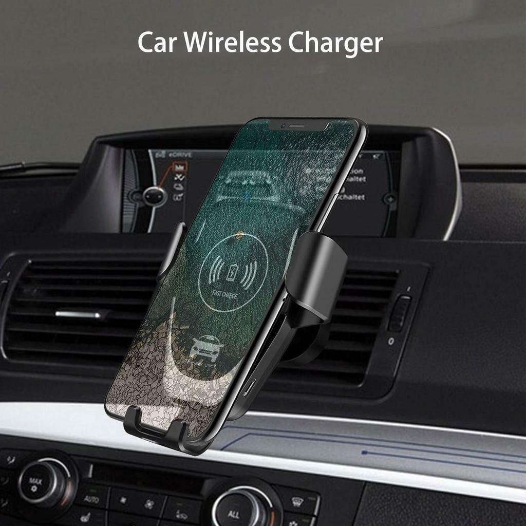 [HÀNG MỚI] Giá đỡ điện thoại kiêm sạc không dây dành cho ô tô 201