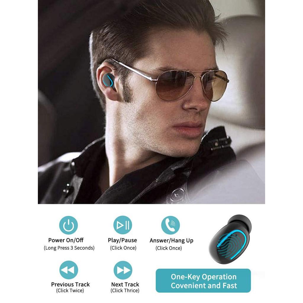 Tai nghe nhét tai Pulierde Q32T không dây kết nối Bluetooth 5.0 tiện dụng