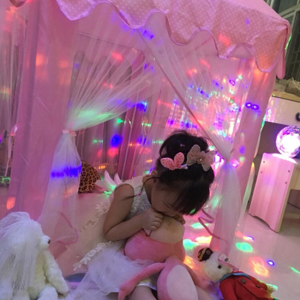 babifry Little Girl Princess Pink Castle Tent Children Indoor Folding Toy Playhouse