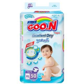 Bỉm tã dán Goon Slim XL50 bịch đại (12 - 20kg)