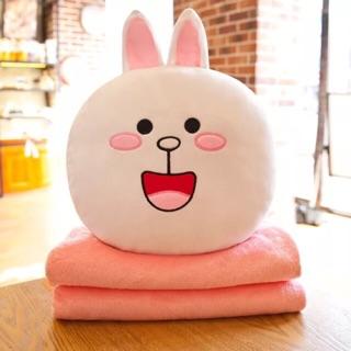 Bộ chăn gối văn phòng 3 trong 1 cao cấp thỏ cony ẢNH THẬT dễ thương