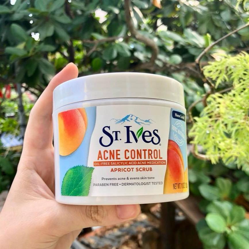Tẩy Tế Bào Chết St.Ives Acne Control Apricot Scrub | Shopee Việt Nam