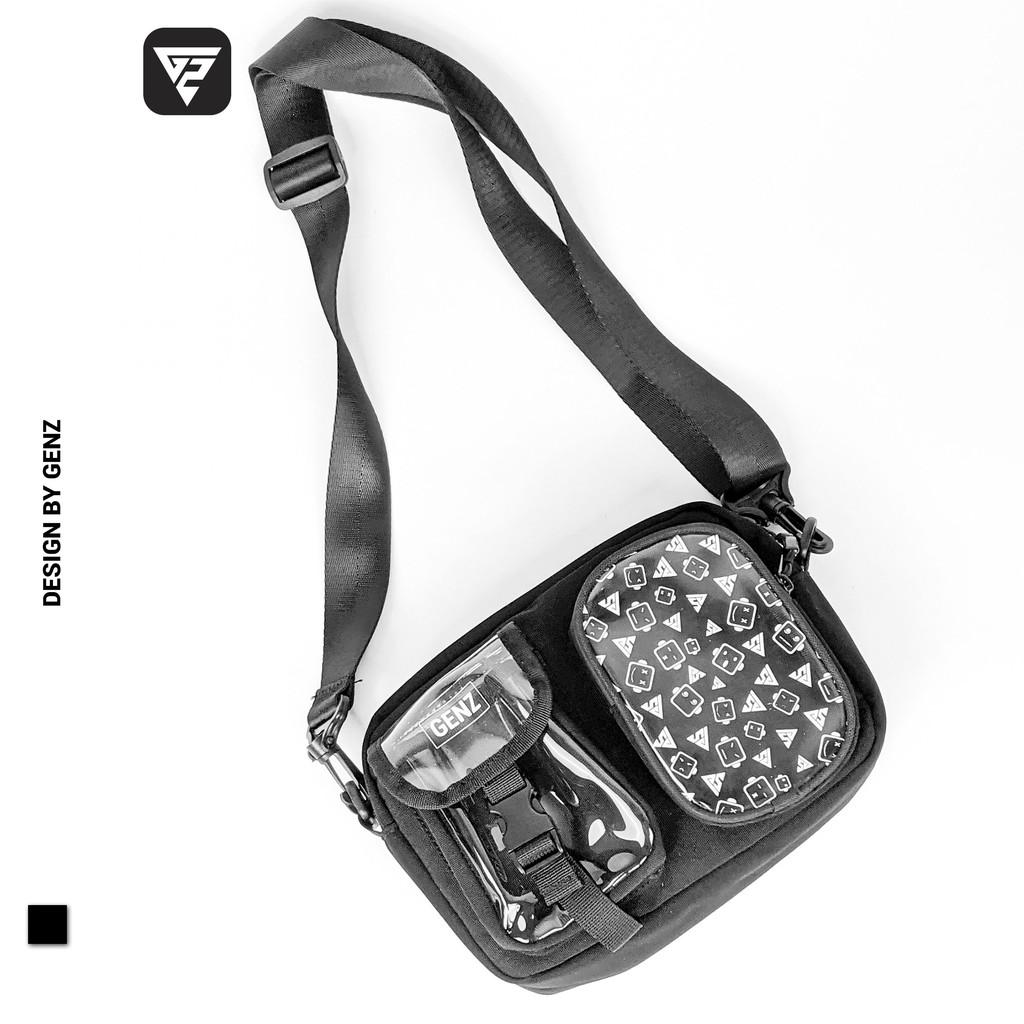 Túi đeo chéo GENZ cao cấp, phong cách unisex phù hợp cả nam nữ - GZB02