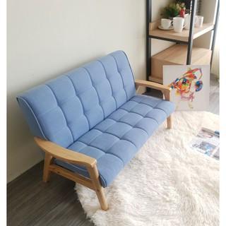 Ghế sofa tay gỗ trẻ em BNS8010-2P Ghế đôi -Xanh dương