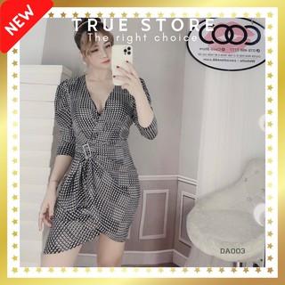 [SIÊU SALE] Đầm lụa dự tiệc thiết kế đắp chéo cổ Hy Lạp phong cách sang trọng, True Store đảm bảo, DA003