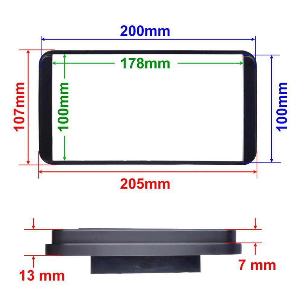 Mặt dưỡng lắp màn hình 7 Inch xe Toyota kích thước ngoài 200 x 100mm - Nẹp viền màn hình android 7 inch,