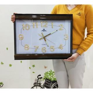 SIZE LỚN/Dạ Quang:Đồng hồ treo tường dạ quang Vuông Trắng Đen 50cm ✌️✌️✌️