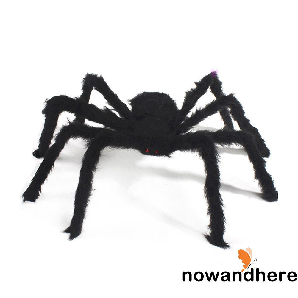 .VV-Halloween Spiders Prop House Bar Decoration Thrilling Plush Spider Araneid