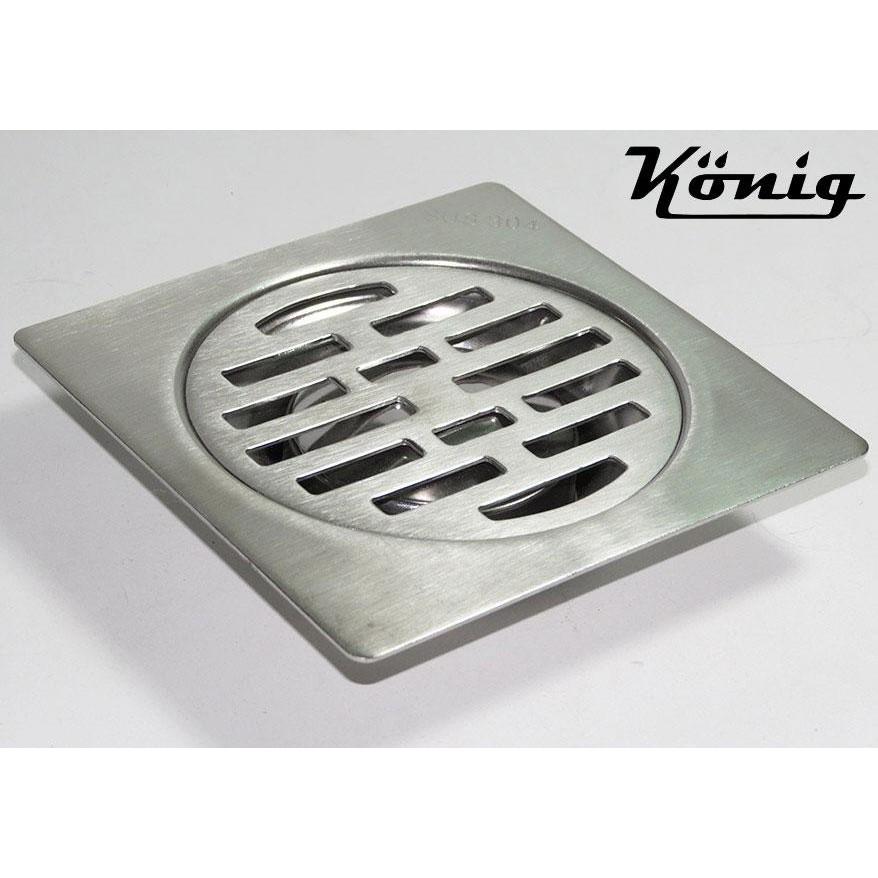 Hố ga thoát sàn Inox SUS-304 12X12cm Konig KN-HG12-304 (Trắng bạc)