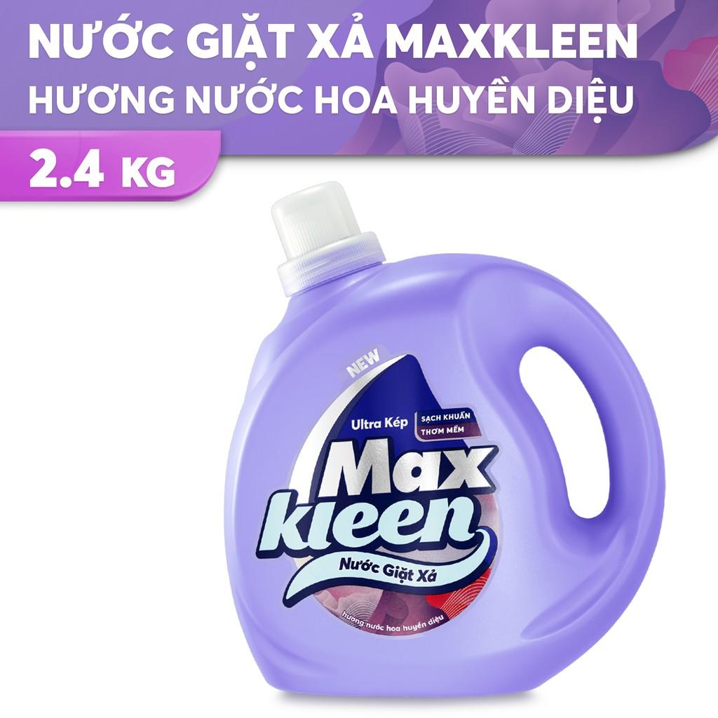 Chai Nước Giặt Xả MaxKleen Hương Nước Hoa Huyền Diệu chai 2,4kg
