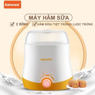 máy hâm sữa và thức ăn cho bé tiệt trùng 2 bình 2 chức năng máy hâm sữa đa năng thumbnail