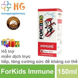 [Kèm Quà Tặng] ForKids Immune - Tăng cường sức đề kháng cho bé, hết ốm vặt, phòng ngừa các bệnh đường hô hấp (Lọ 150ml)