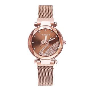 Đồng hồ nữ Ourstart Thiên Nga dây nam châm cực hot DH94
