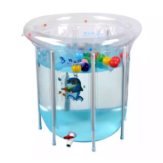 (Tặng quà ) Bể bơi thành cao Doctor dolphin kích thước 80cmx80cm