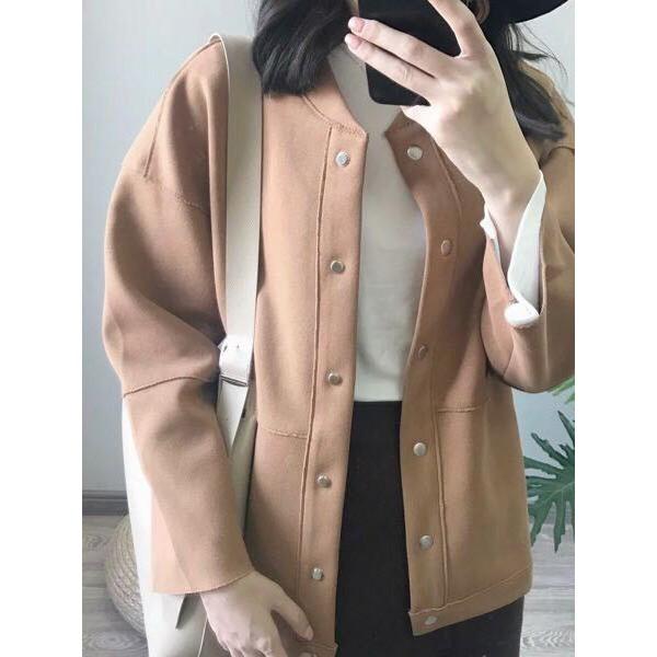 áo khoác nữ chất dạ mỏng kiểu hàn quốc