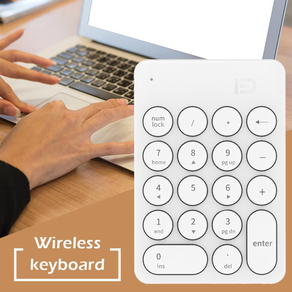 ✿Yi✿ FD ik6610 Wireless Digital Keyboard 1600 DPI Mini Numeric Keypad Number Pad Giá chỉ 200.600₫