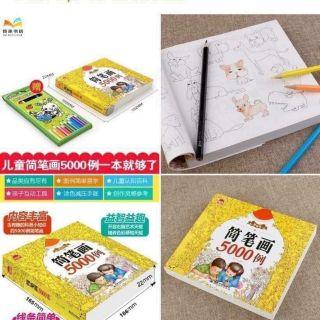 Bộ sách tô màu 5000 hình kèm hộp màu