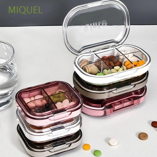MIQUEL 4/6 Grids Medicine Pill Box Portable Tablets Storage Container Travel Pill Case Women Waterproof Men Plastic Vitamins Capsules Organizer