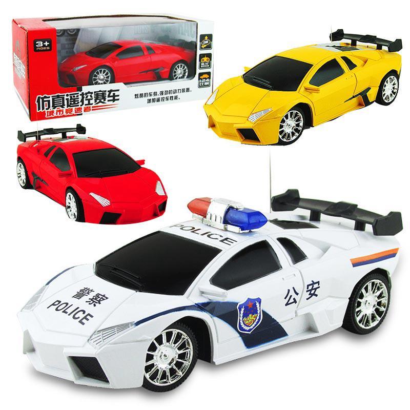 Children's remote control car toy model Radio motion 1:24 Lamborghini Police two-way simulation