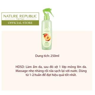 Tẩy da chết toàn thân dạng xịt NATURE REPUBLIC SKIN Smoothing Body Peeling Mist - Peach 250ml-2