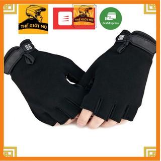 Găng tay 511 cụt ngón màu đen, đủ size chống nắng, đi xe máy, đi phượt