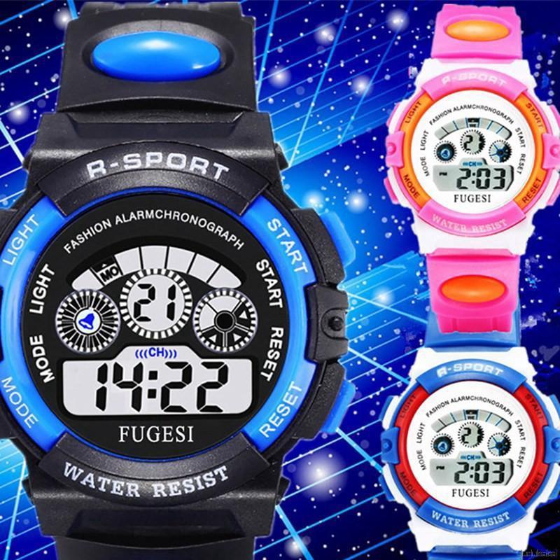 Đồng hồ điện tử kỹ thuật số có đèn LED thời trang dành cho bé