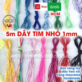 Dây thắt vòng, dây đan vòng handmade 5m HOA GẠO GTN5 loại nhỏ 1mm treo nôi, trang trí nhà cửa bền, chắc, đẹp thumbnail