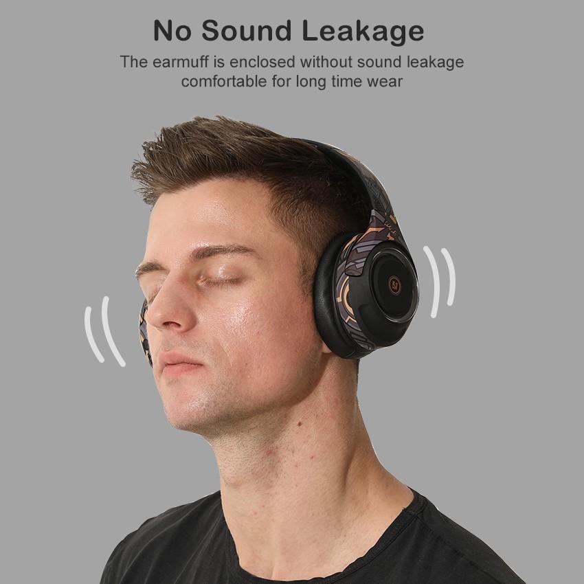 Tai nghe choàng đầu Wiresto không dây Bluetooth 5.0 20ms âm thanh nổi cao cấp