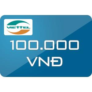 Nạp trực tiếp Viettel 100k