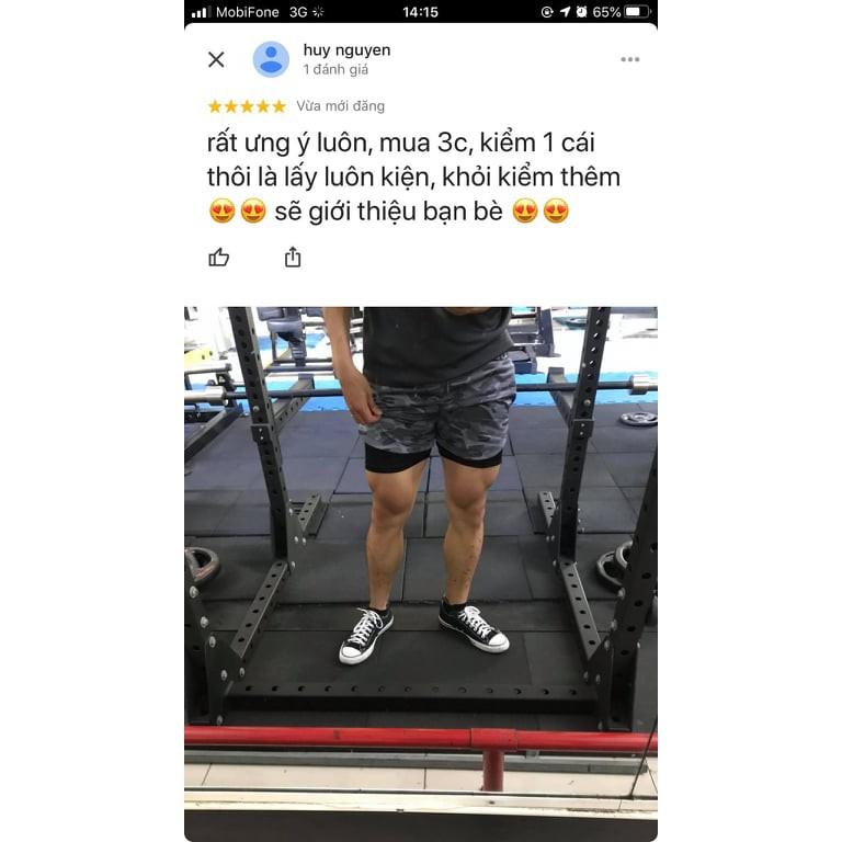 Yêu ThíchQuần đùi tập gym nam 2 lớp QS2 (LG)