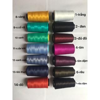Chỉ tơ vắt sổ cuộn to 5000m-nhiều màu